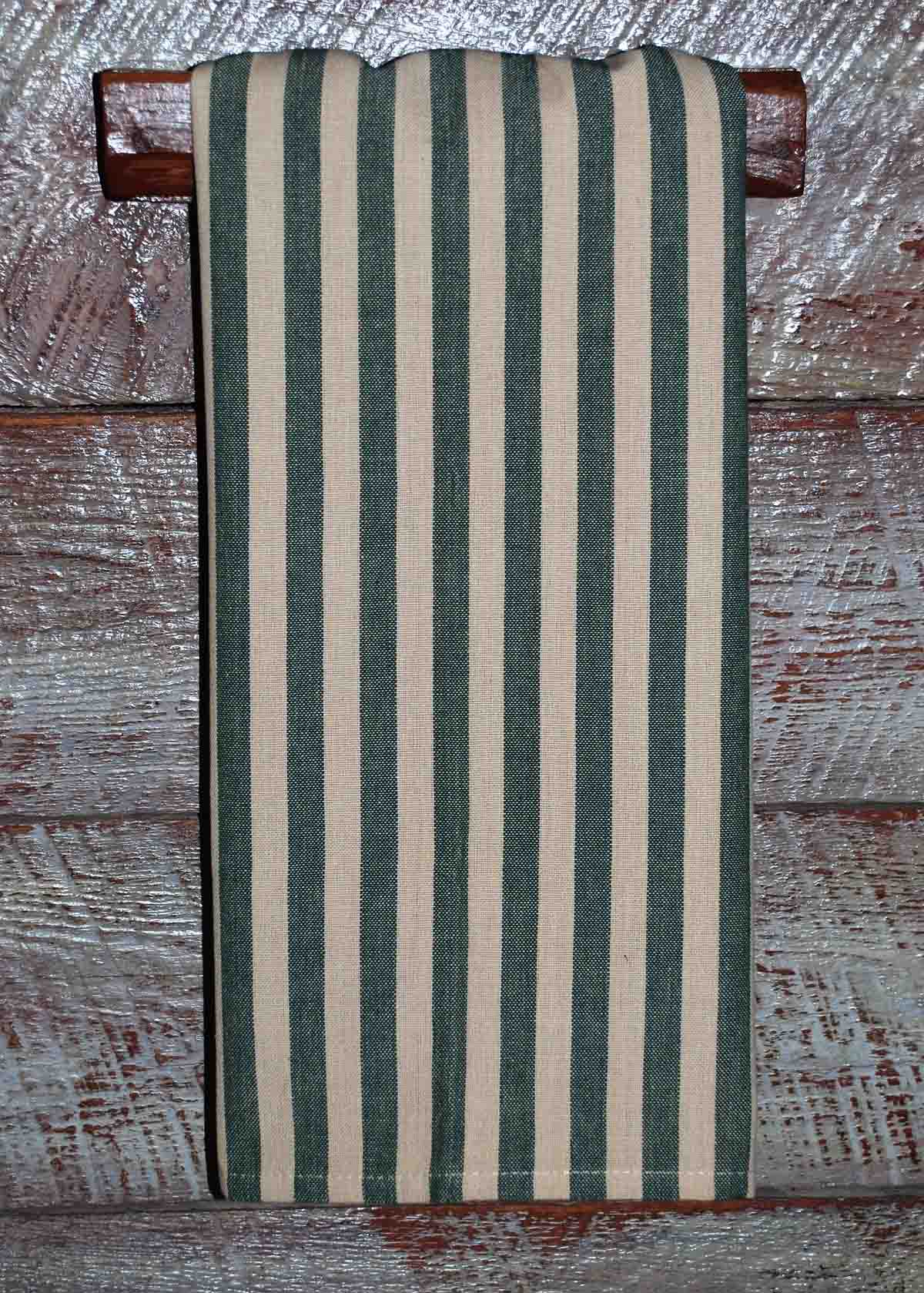Green Tea Dyed Country Stripe
