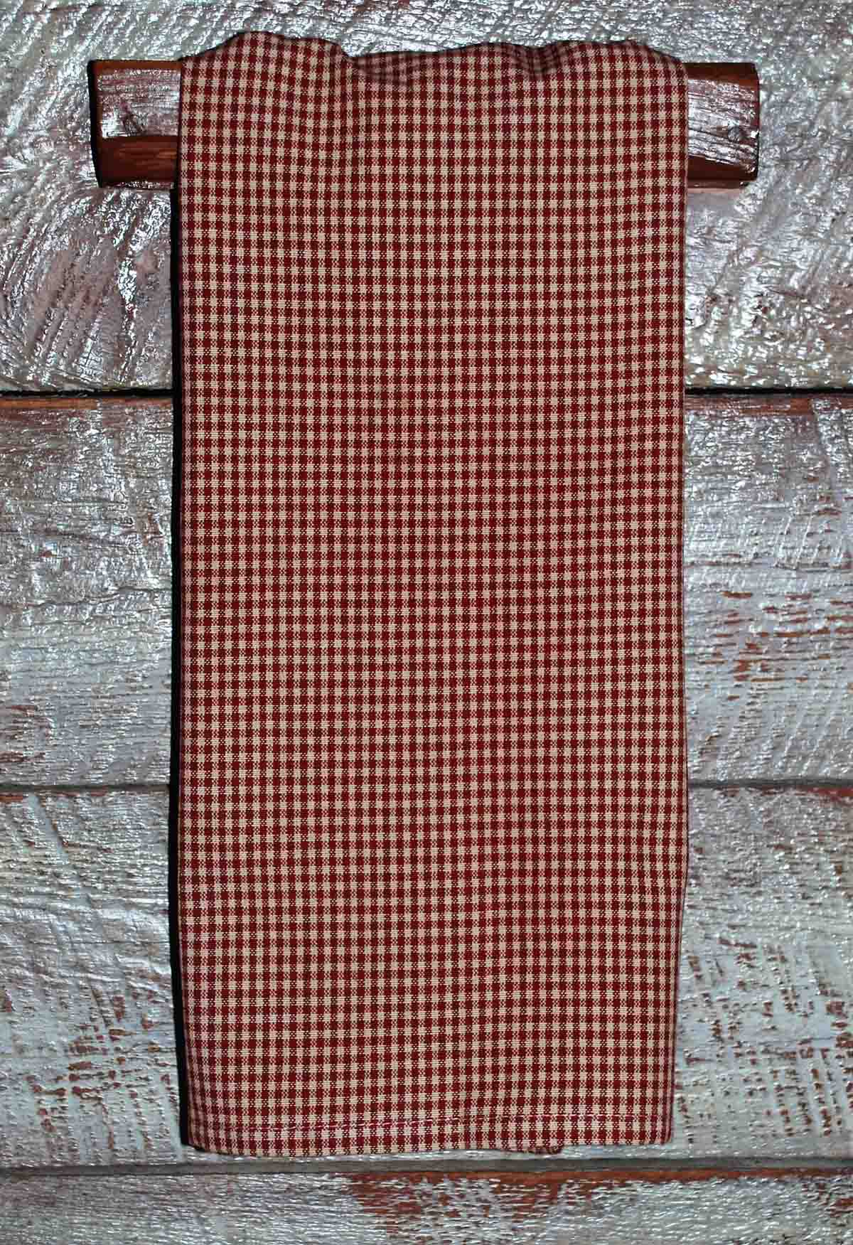 Red Tea Dyed Mini Check
