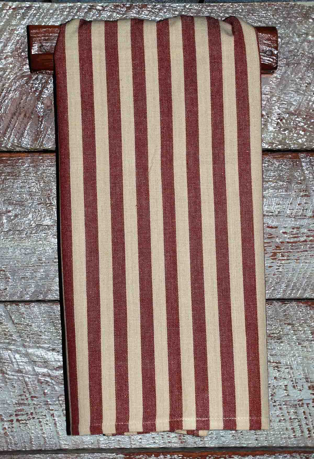 Red Tea Dyed Country Stripe