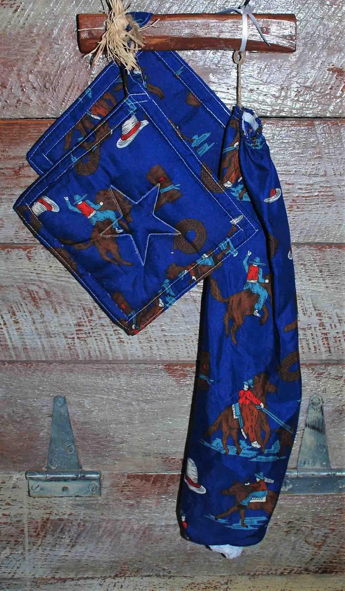 Blue Snag-a-Bag/Pot Holder Set