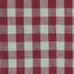 Red Tea Dyed Small Check Tea Towel