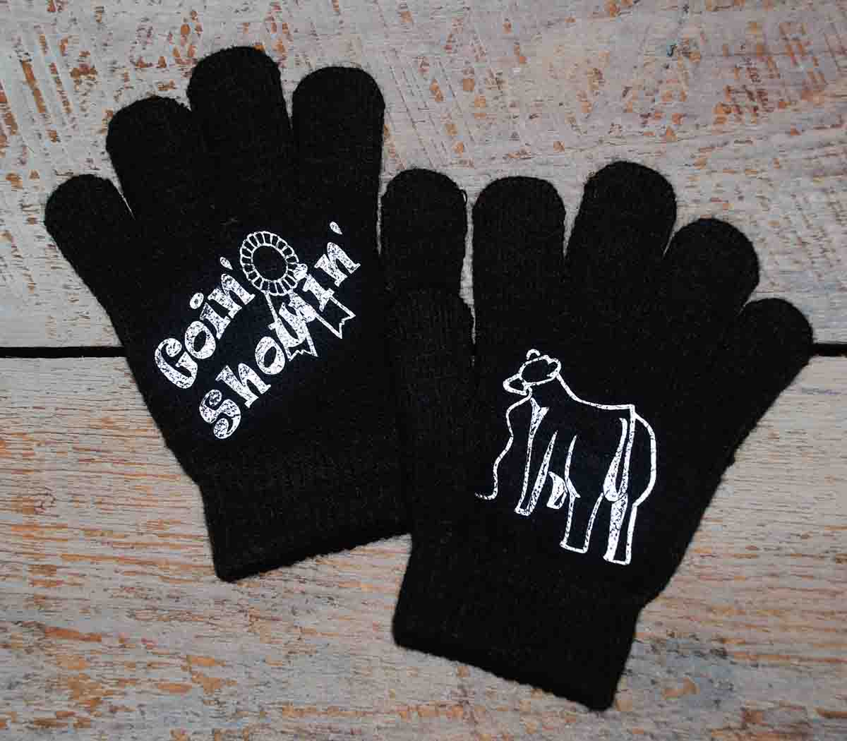 """""""Goin' Showin'"""" Cattle Youth Gloves"""